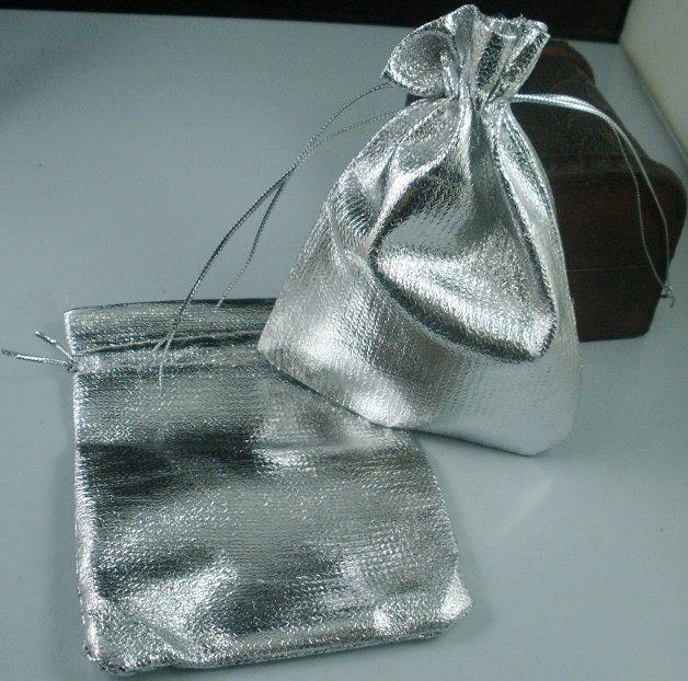 Heiß ! 100 versilberte Gaze-Schmuckbeutel 7x9 cm / 9x12 cm / 11x16 cm / 13x18 cmSchmuck-Geschenkbeutel-Beutel für Hochzeitsbevorzugungen mit Kordelzug