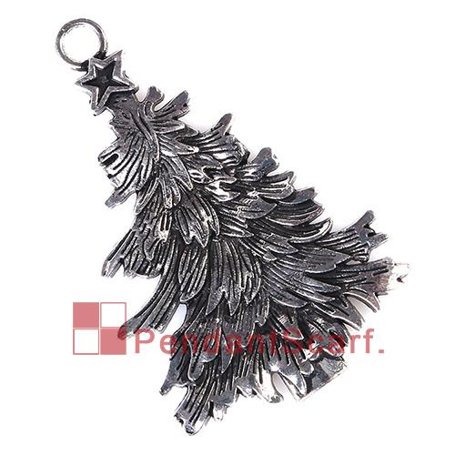 12PCS/LOT New Style Fashion DIY Necklace Jewellery Scarf Findings Mental Alloy Charm Christmas Tree Design Pendant, Free Shipping, AC0236