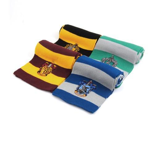 best selling Harry Potter Scarf Scarve Gryffindor Slytherin Hufflepuff Ravenclaw School Unisex Knitted Striped Scarf Gryffindor
