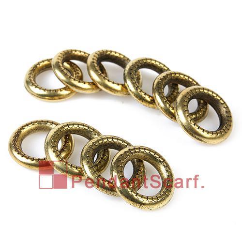 / neue Art und Weise DIY Schmucksache-hängende Schal-Entdeckungen Retro- goldene überzogene Charme-Plastik CCB Kreis-Ringe, freies Verschiffen, AC0031C