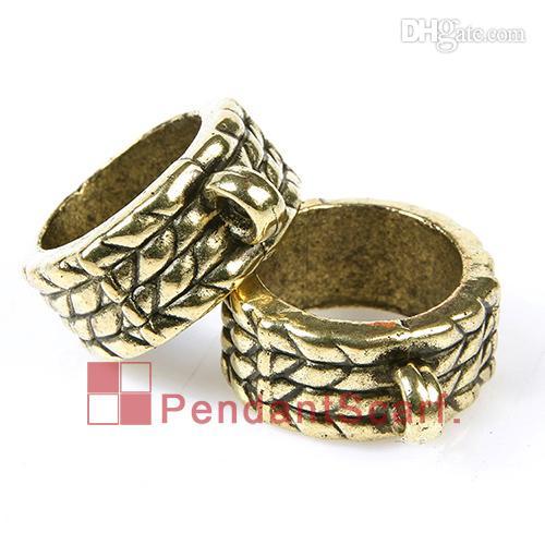 100st / mycket topp mode diy halsband smycken hängsmycke halsduk fynd Antik bronspläterad plast CCB Circle Ringar, Gratis frakt, AC0084B