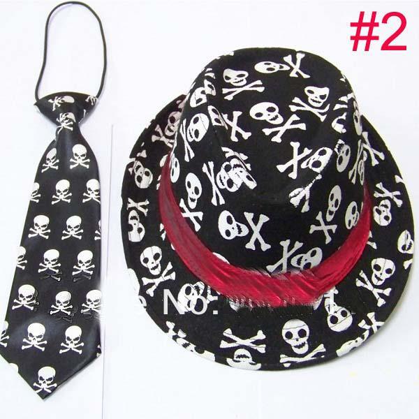 Unisex Casual Fedora Trilby Hut mit Krawatte Jungen Mädchen Fedoras mit Krawatte Set Kinder Top Hut Jazz Cap