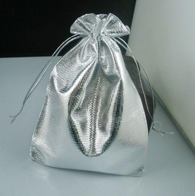 Heta! Silverpläterade Gaze Smycken Väskor Smycken Presentpåse Väskor för bröllopsfavörer med dragsko 7x9cm / 9x12cm / 11x16cm / 13x18cm B52