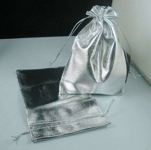 best selling Hot ! Silver Plated Gauze Jewelry Bags Jewelry Gift Pouch Bags For Wedding favors With Drawstring 7x9cm   9x12cm   11x16cm   13x18cm (b52)