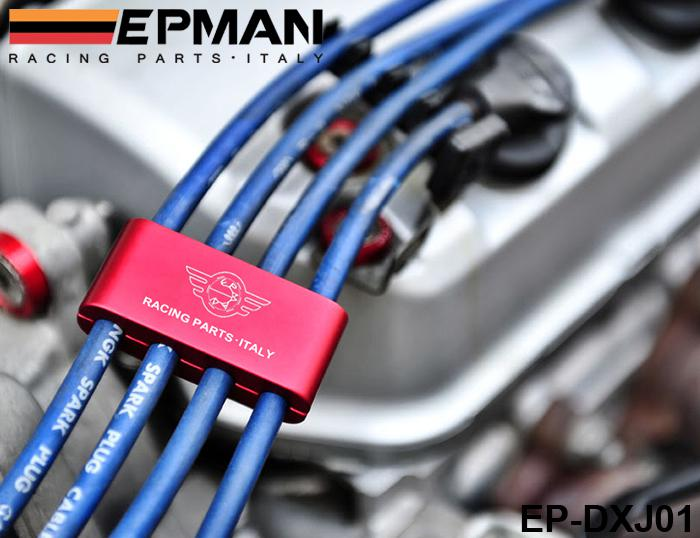 Tansky - Epman Racing Spw Motor Spark Plug Wire Separator Divider Clamp för bil, motorcykel, ATV EP-DXJ01