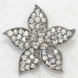 Costume Flower Brooch Canada - Wholesale Crystal Rhinestone Bridesmaid Wedding party Flowers brooches Fashion Costume Pin Brooch C398