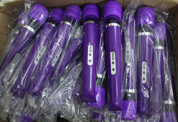 Wholesale Head Hitachi - Cordless Rechargeable 10 Speed Magic Wand Massager AV Vibrator Hitachi Head Full Body Massager 50 pcs