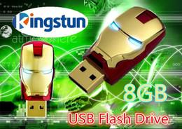 Wholesale Memory Flash Disc - Wholesale - 10pcs 8GB Avengers Iron Man 3 Cartoon USB 2.0 Flash Memory Thumb Pen Drive Drives Stick Sticks Disks Discs Pendrives Thumbdrive