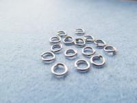Wholesale Nickel Split Rings - 5mmx0.7mm Silver tone White K Open Jump Split Rings, Jewelry Making ,Findings,DIY Components,Nickel free