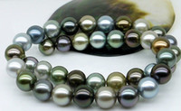 Wholesale Tahitian Pearl Strands - Best Buy pearl jewelry stunning 10-11mm tahitian multicolor pearl necklace 18inch 14k