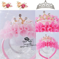 Wholesale Korean Large Hair Bands - Children's hair bands hair bands Korean yarn large crown Free shipping