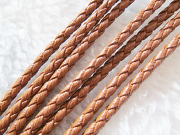 3mm Gute Qualität Schwarz / Braun / Schwarz + Weiß Runde Helle Korea Weiche Braid Lederband String Seil Finden, DIY Armband Halskette Friesen von Fabrikanten
