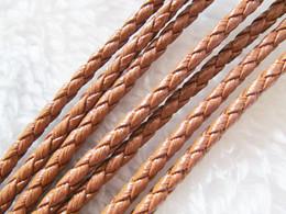 Wholesale Diy Bracelet Leather Goods - 3mm Good Quality Black Brown Black+White Round Bright Korea Soft Braid Leather Cord String Rope Finding,DIY Bracelet Necklace Beading