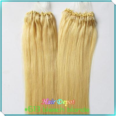 200s 300s 22 #613 Human Micro Bead Hair Extensions 0.5g/S ...