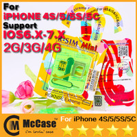 Original RSIM R SIM R-SIM Mini Mini + GPP EXtreme 0.2mm Cartão fino Unlock para iPhone 4S 5 5C 5S IOS 6.X IOS 7.0 7.0.3 7.0.4 Sprint Verizon DHL