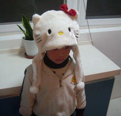 Unisex Animal de dibujos animados Sombrero Largo Fluffy Plush Cap MÁSCARA Bufanda Hood 3D Earmuff Headgear Dance Party Beanie Sombreros Gorras accesorios Fur Costume Warmer