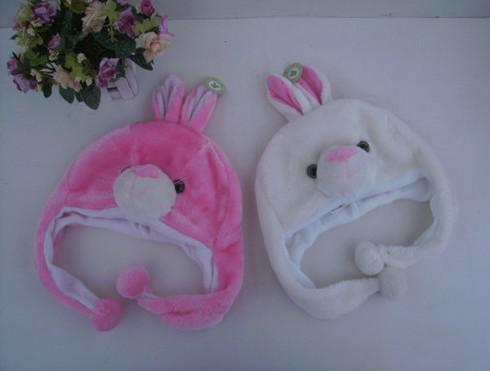 Moda Animal de la historieta Sombrero Largo Fluffy Plush Cap Máscara Bufanda Hood 3D Orejeras Sombrero de Baile Sombreros Gorros accesorios de Piel Cosplay traje