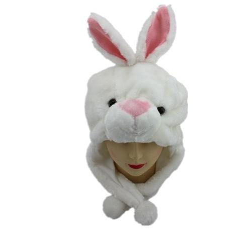 Fashion Cartoon Animal Hat Long Fluffy Plush Cap MASK Scarf Hood 3D Earmuff Headgear Party Beanie Hats Caps props Fur Costume Warmer helmet