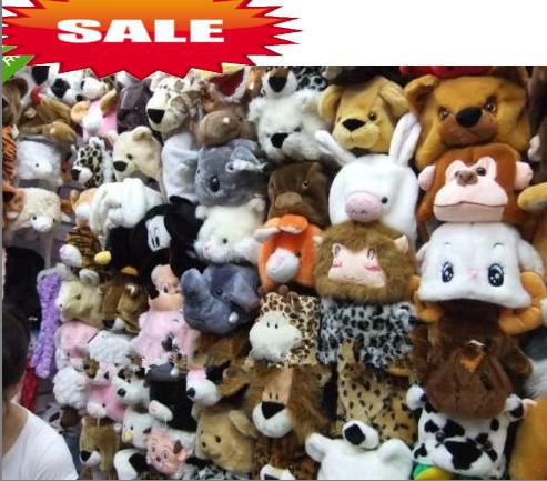 Moda Cartoon Animal Hat Long Fluffy Peluche Cap Mask Sciarpa Hood 3D paraorecchie copricapo Dance Party Beanie Hats Caps puntelli di pelliccia Costume cosplay