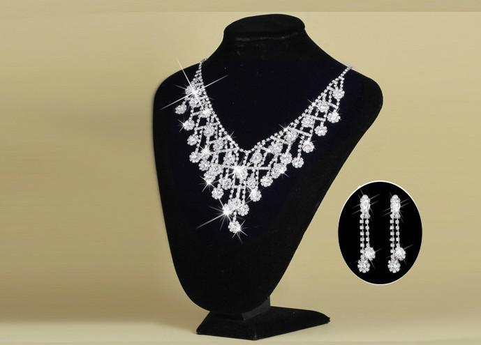 Fashion diamond Crystal Tiaras crown Earrings Necklace Bridal Jewelry Sets Crown combs Hair Accessories Wedding Party Charm Jewelry Set