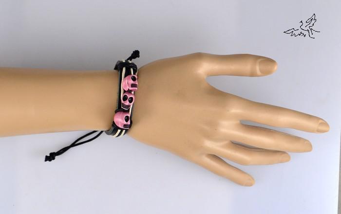 / Mélanger Couleurs 3 Crâne En Cuir Bracelet Squelette De Mode Tribu Bracelets Bijoux De Mode