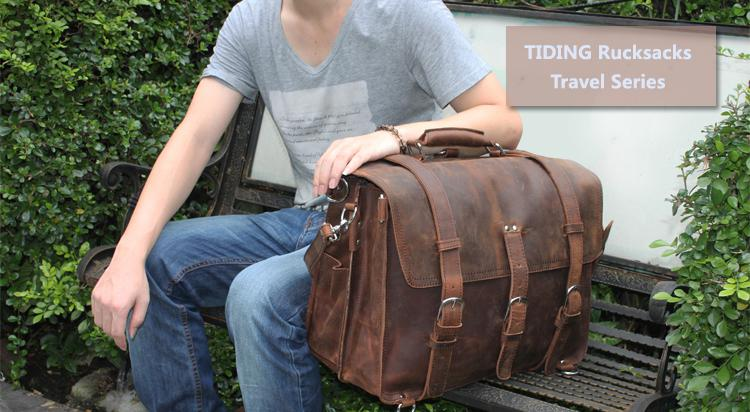 2014 Men S Large Leather Laptop Bag 17 Messenger Shoulder