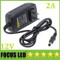 Wholesale 12v 2a Dc Charger - AC 100-240V to DC 12V 2A US Plug adapter charger Power Supply Adapter for Led Strips Lights Free shipping