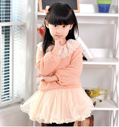 Wholesale Cute Tutu Dresses Long - Wholesale Autumn New Arrival Baby Girl's Cute Dresses Kids Long Sleeve Lace Yarn TUTU Dress Children's Wear Clothing