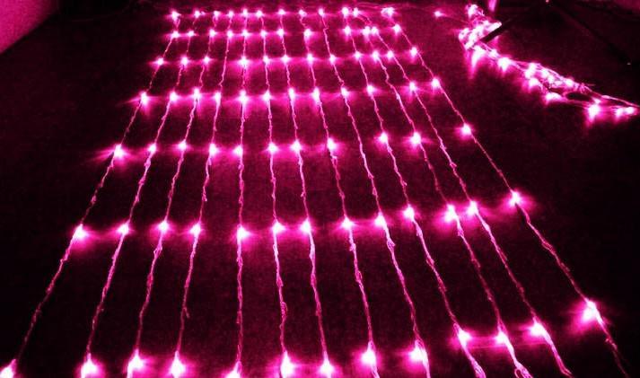 führte waterfull 640LED Hochzeitshintergrundlichtvorhang LED feenhafte Weihnachtslampenfestivallampe 6 * 3meters führte laufende Wasserfalllichter