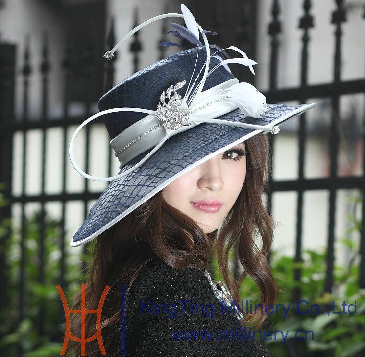 Women Dress Hat Satin Dress Hat Fashion Dress Church Hat