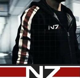 Масса эффект куртка n7 онлайн-Mass Effect 3 III N7 Хлопок Косплей Толстовка Пальто Куртка Костюм