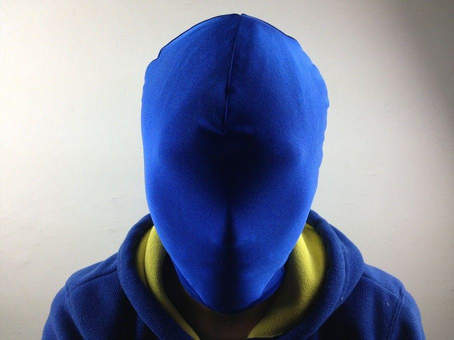 halloween lycra spandex zentai kostüm weiß alle maske / haube für slenderman