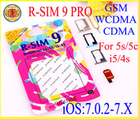 Wholesale Iphone For Sale Unlocked - Hot sale R-SIM 9 RSIM9 R-SIM9 Pro Perfect SIM Card AUTO Unlock Official IOS 7.0.2 7.1 for iphone 4S 5 5G 5S 5C GSM CDMA WCDMA 3G 4G