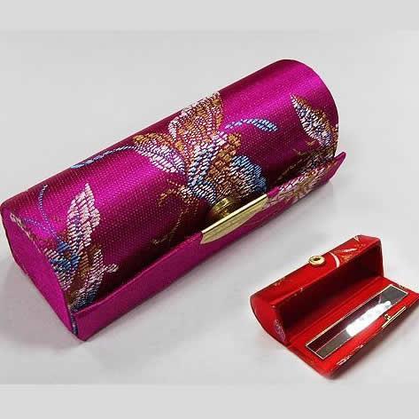 2018 Chinese Handmade Silk Lipstick Box Women Jewelry Box With
