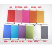 zurück gehäuse design großhandel-Für iPhone 5 Nicht für iPhone 4 4S Full Back Gehäuse Ersatz Repir Teile Regular Design Schwarz Von Hongkong Post