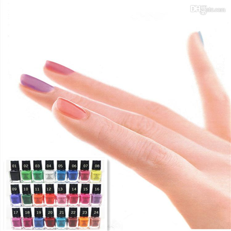 Elegante Color Caramelo Yorom Uña Arte Polaco 24 Desnudas Colores De ...