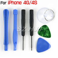 Wholesale Iphone 4s Screw Repair Kit - For iPhone 4 4S Repair Opening Tools Kit 7 in 1 Screw Driver Set
