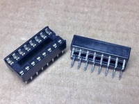 16 pin ic socket al por mayor-Nuevo 5 x 16 Pin DIP IC Sockets adaptador de soldadura