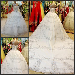 $enCountryForm.capitalKeyWord Canada - Custom Made Real Picture Sexy sweetheart Beading A-Line Cathedral Train Wedding Dresses Bridal Dress Free Shipping DH6841