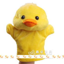 Wholesale Cheap Wholesale Soft Toys - Cute Many Animals Designs Duck Hand Puppet Soft Toy Cheap Online Toys for Baby10pcs lot MA1101