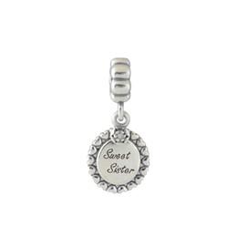 S925 estampado plata esterlina tornillo núcleo Sweet Sister Dangle Charm Bead adapta a estilo europeo joyas pulseras collares colgantes desde fabricantes