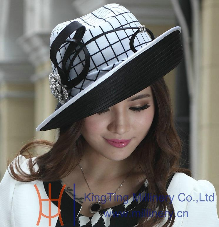 Women Church Hat Women Winter Hats Ladies  Polyester Hat Satin Dress Hat  Brim Up Design Bow Winter Stylish New Arrival Funny Hats Hat World From ... 6575b118ce6