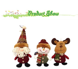 """Wholesale Burgundy Christmas Ornaments - Free Shipping,wholesale 50 pieces lot ,7"""" Indoor Christmas Hanging Ornaments Decoration Santa Claus Snowman Deer , SHB044"""