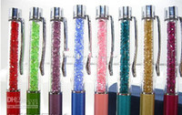 Wholesale Crazy Pens - Wholesale - 100pcs lot 20 color choose Crazy Sales White Crystal Swarovski pen ball-point pen