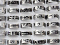 Wholesale Man Rings Wholesale - Free shipping Wholesale mix lot 36pcs Stainless Steel Ring Fashion Men Jewelry Wholesale Hot Sale [SR52*36]H-6