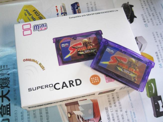 Supercard Mini Sd Gba Flash/Program/Burn Card For Gba/Gba Sp/Gbm/Ds ...