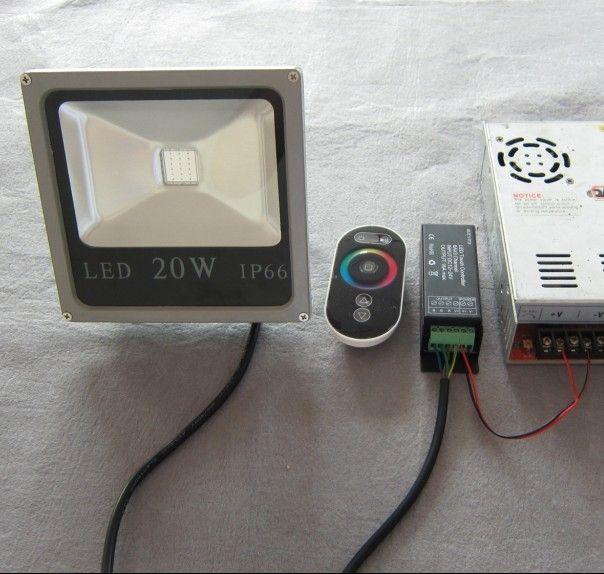 اتصال لاسلكي للتحكم 4 wires ماء dc12v rgb 10 واط أدى ضوء الفيضانات المستخدمة للمتاحف وصالات العرض العتيقة