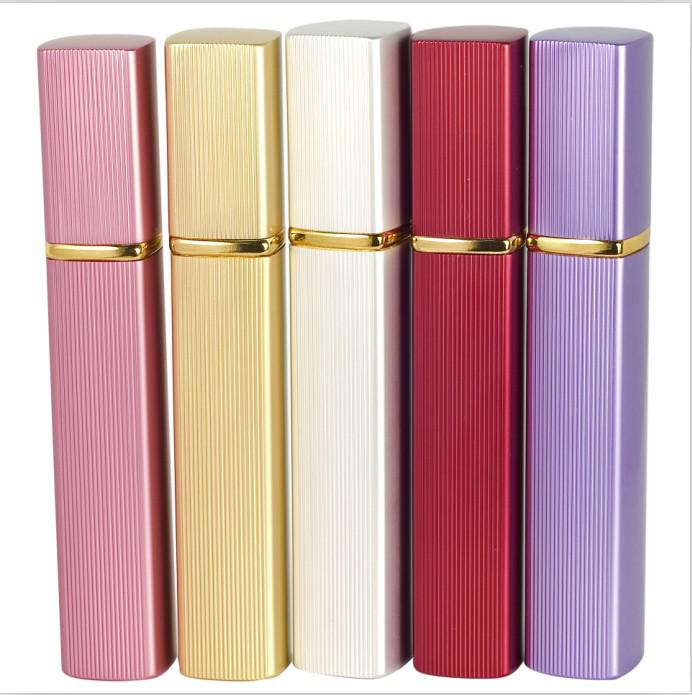 Refillable Empty Atomizers Travel Perfume Bottles Spray Makeup Aftershave Colorful Metal Bottle12ML