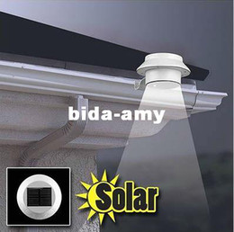 2019 luces de la valla solar caliente 3 LED accionado por energía solar Gutter Light Light Lobby Camino Jardín Lámpara Blanco / blanco cálido Nuevo rebajas luces de la valla solar caliente