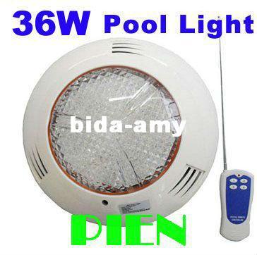 RVB LED sous-marine IP68 36W lampe de piscine applique murale fontaine extérieure BOMBILLAS AC 12V livraison gratuite 1 pcs / lot